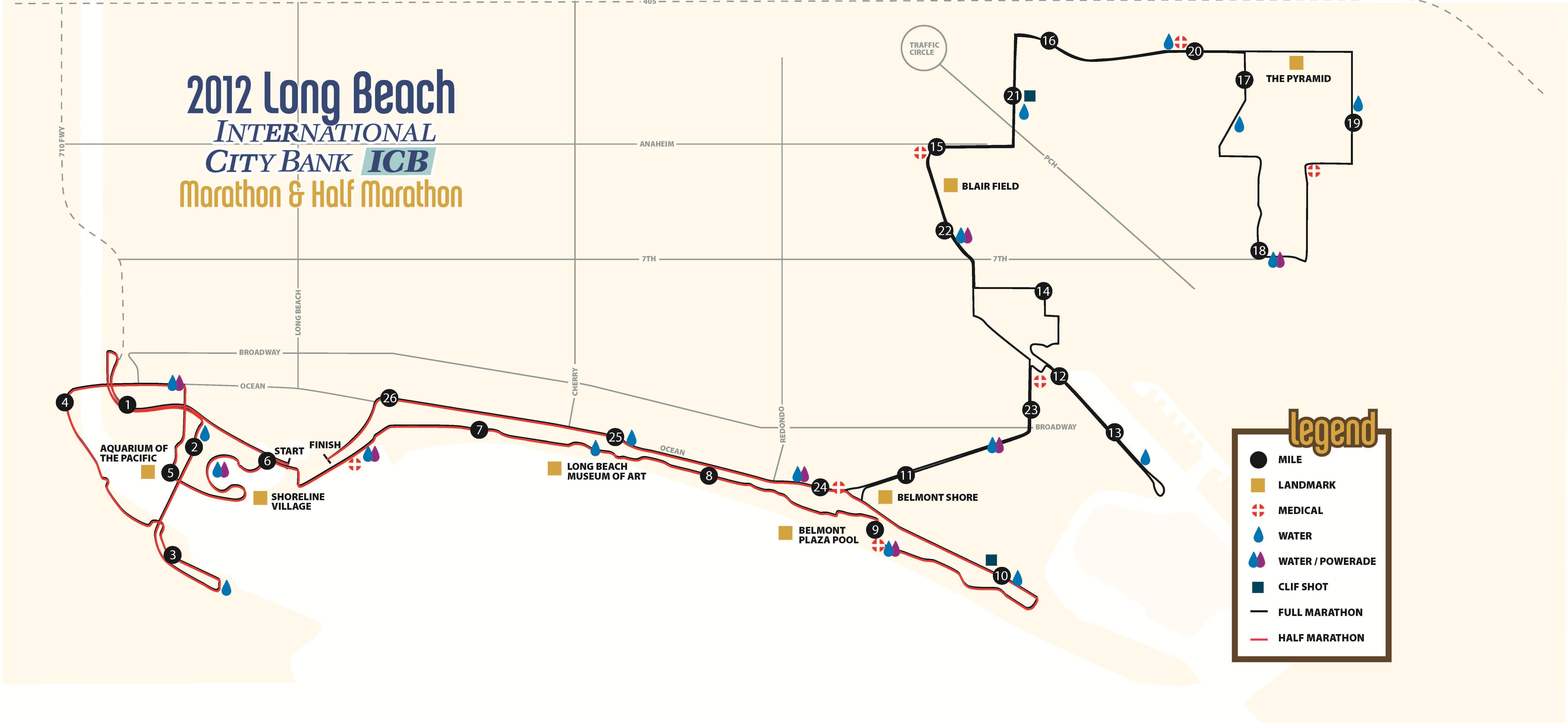 Map Of New York Half Marathon.Long Beach Half Marathon The Daily Run
